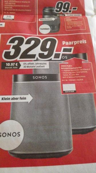 [Lokal] MediaMarkt Paderborn Sonos Play: 1 - Paar Room Starter Set = 2 Boxen 329€