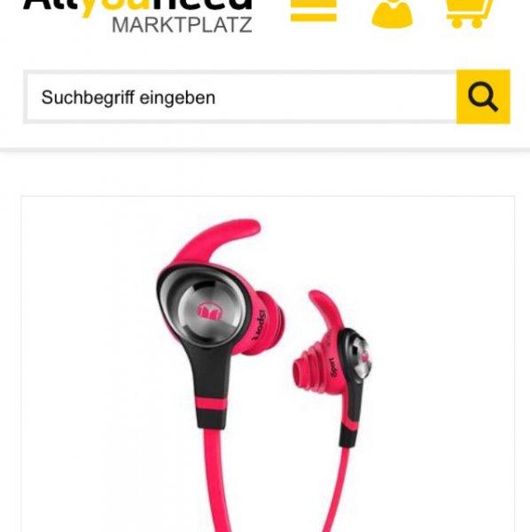 Monster iSport Intensity In-Ear Sport-Kopfhörer pink für 36,90€ inklusive Versand.