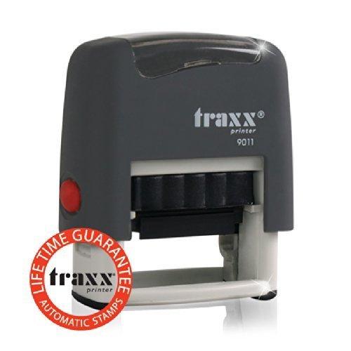 TRAXX 9011 Marken-Stempel 38 x 14mm/4-Zeilig GRAU [ONLINE]