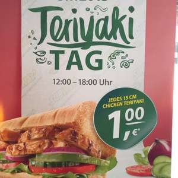 Subway Winsen/L. Teriyaki Tag