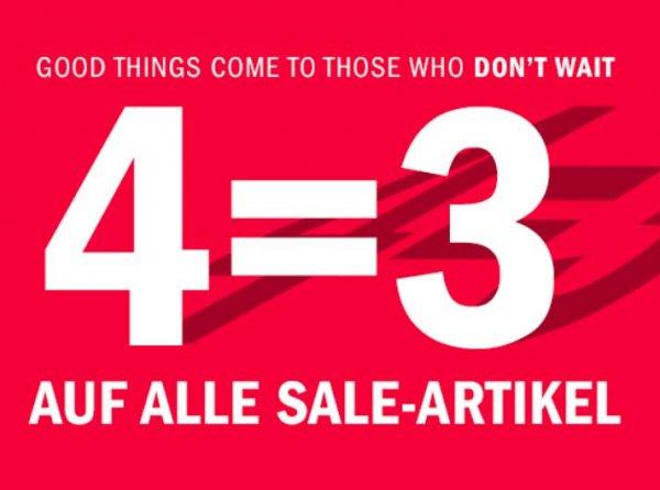 We Fashion: 4 für 3 auf reduzierte Ware, ab 50€ VSK, z.B. 4 Teile für 50€ statt 80€