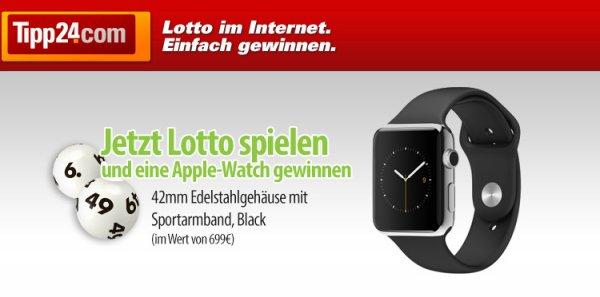 """2 Lotto-Felder """"6 aus 49? spielen, nur eins zahlen + mit glück eine Apple Watch gewinnen [TIPP24.com]"""