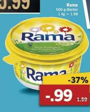 [Lidl / Offline] Rama 500gr. für nur 0,99€ Ab 06.07.2015