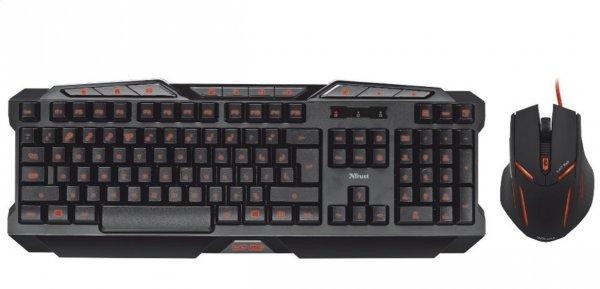 Saturn: TRUST Bundle GXT280 Illuminated Gaming Tastatur + GXT152 Illuminated Gaming Mouse für 39,99 Euro