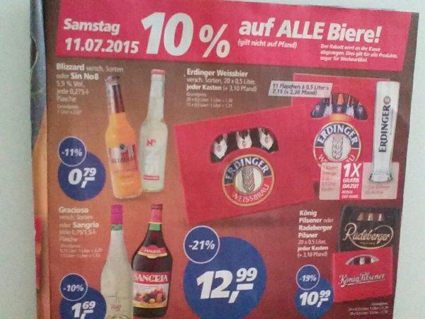 [Real]  11.07: Kasten Erdinger versch. Sorten + Weizenbierglas  11,69€
