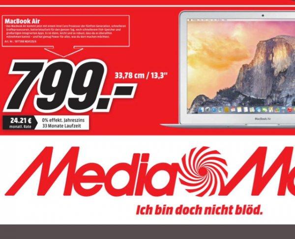 """[lokal Paderborn MM] Apple MacBook Air 13"""" 2015 (MJVE2D/A) 799€, idealo 919€"""