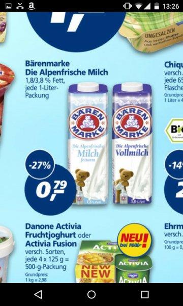 Bärenmarke Milch 1L bei REAL nur 0,79€
