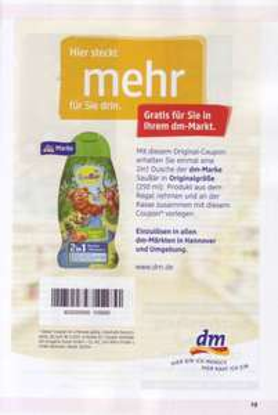 [dm-drogerie markt Hannover] Gratis SauBär 250 ml