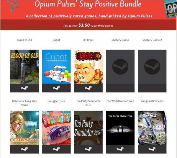 [Steam]Opium Pulses' Stay Positive Bundle @ Flying Bundle inkl.Tea Party Simulator 2015