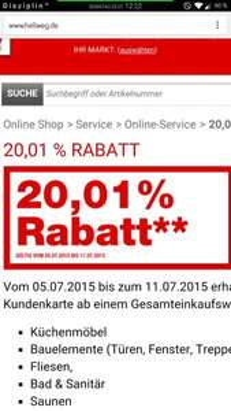 Hellweg 20,01% Rabatt ab 100,- auf Bauelemente uvm...