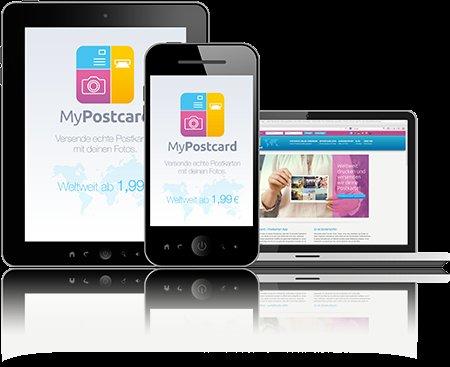 3 Postkarten per Mypostcard App (Android)