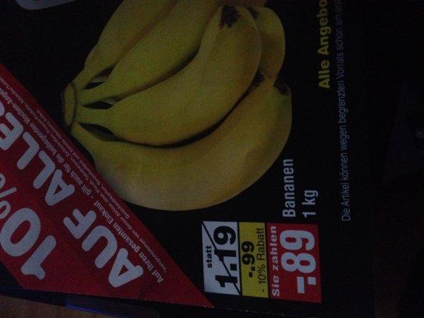 Lokal Netto Bremerhaven Bananen 0,89€/kg, Gurken für 0,26€
