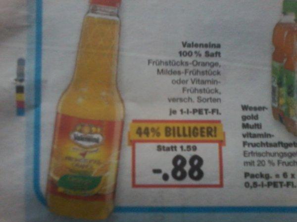 Valensina 100% Saft 1l  KAUFLAND     -,88