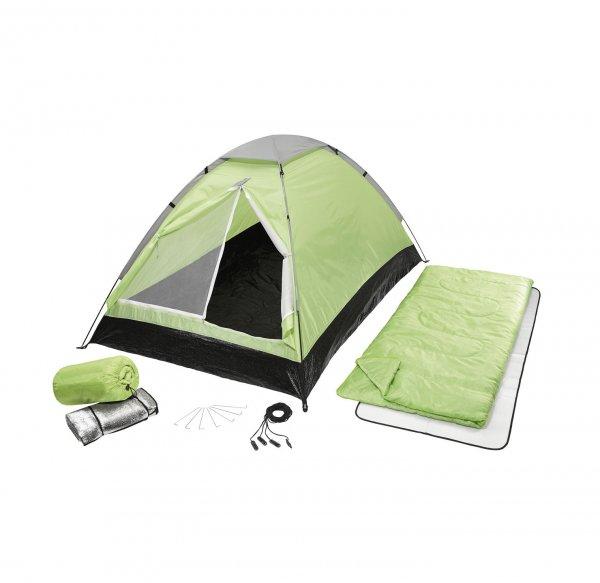 Neuer Tiefpreis: 6-teiliges Zelt-Set (Zelt, 2 Schlafsäcke, 2 Matten + Tasche) NKD
