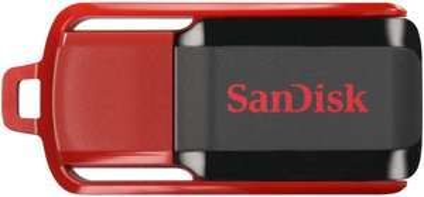 (Amazon Prime) SanDisk Cruzer Switch 64GB USB-Stick USB 2.0 schwarz/rot für 19,- EUR