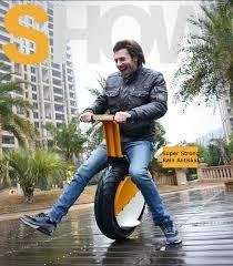 @Banggood: Einrad-Motorrad mit Sitz und Beleuchtung / One-Wheel Motorcycles 17inch Vacuum Tire Self Balance With LED Headlight ab 1260 €