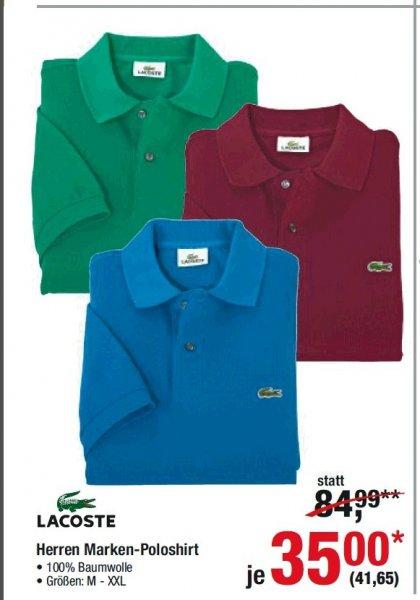 [METRO] Lacoste Herren Polo Shirt für nur noch 41, 65 EUR Brutto (bis 08.07.)