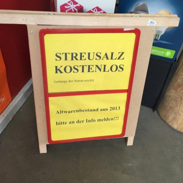 Streusalz kostenlos [Hellweg Berlin Biesdorf]