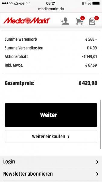 Samsung Galaxy Tab S 10.5 Wifi + Tastatur für 419€ + 100€ Cashback @Media Markt
