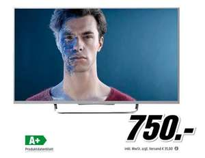 Sony KDL-55W815B 55 Zoll Full HD 3D, Smart TV, Triple Tuner, Mo­ti­on­flow XR 600Hz, WLAN, X-Rea­li­ty PRO für 750€ @Media Markt