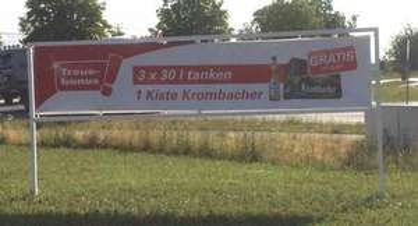 [lokal A1 Ausfahrt Münster-Hiltrup] 3x tanken = Kiste Krombacher gratis