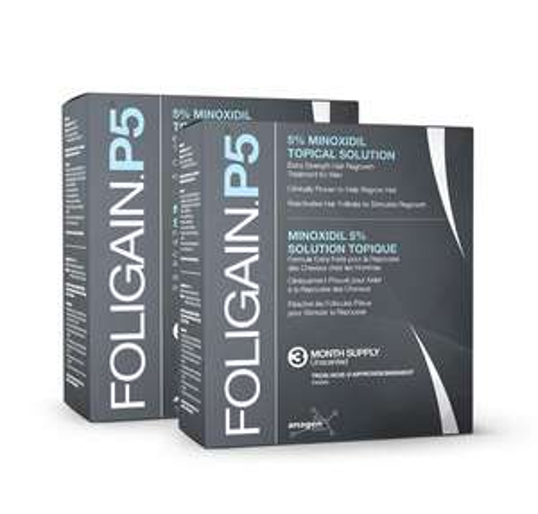 [BIOVEA.COM] 12 Monatspackung FOLIGAIN P5 Minoxidil 5% Lösung für 69,62€ (günstige Alternative zu Regaine - weniger als 6€/Monat)