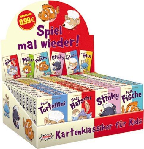 @Amazon: Kartenklassiker für Kids: Amigo 09000 48 x 99 Cent Spiele für 6,48 in der Aufstellbox