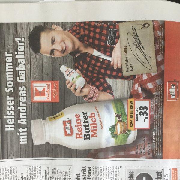 KW28 Kaufland Bundesweit Müller Buttermilch 500 ml 52% billiger -.33 Cent