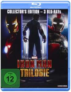 (Saturn / Amazon Prime) Iron Man Trilogie (Collectors Edition) - Blu-ray für 13,99 EUR