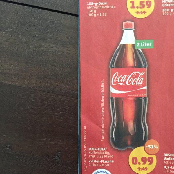 [REWE][lokal? Lüneburg] Coca Cola 0,99€ für 2 L