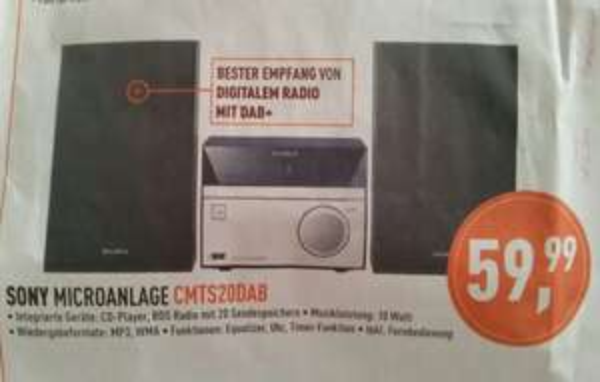 [lokal] [Berlet] Sony Micro-Anlage CMTS20B 59,99 €