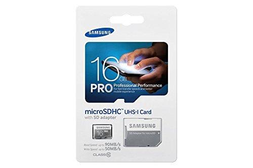 [Amazon prime] Samsung MicroSDHC PRO ! 16GB UHS-I Grade 1 Class 10, bis zu 90MB/s, mit SD Adapter