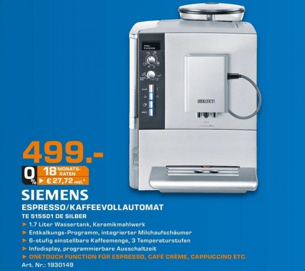 [Lokal Saturn Kassel/Baunatal] SIEMENS TE515501DE EQ.5 macchiatoPlus Kaffeevollautomat 499€ (Idealo: 599€)