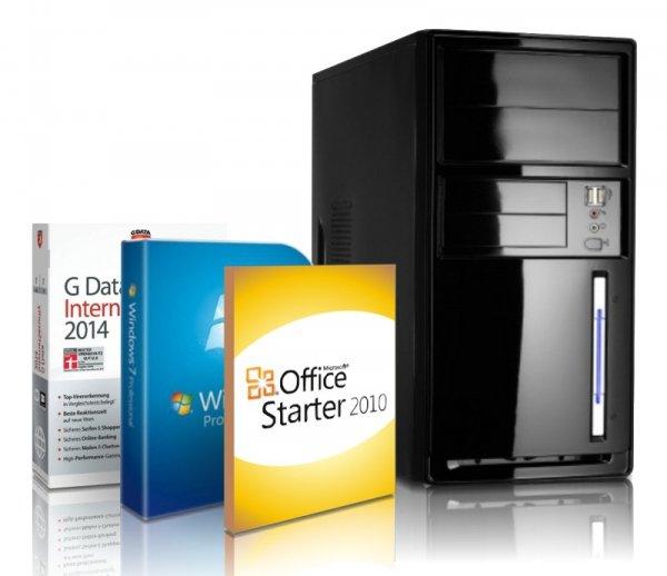 [UPDATE] Office PC mit Intel Celeron Quadcore 4x 2.42Ghz, 4GB DDR3, 500GB, Win 7 Pro noch billiger 169,99€ statt 269€ bei redcoon.de