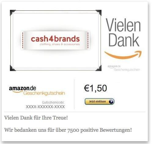 1,50€ Amazon Gutschein für 1,00€ kaufen