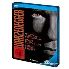[Base.com] Arnold Schwarzenegger Collection - 3x Bluray (OT) - Total Recall, Der City Hai, Red Heat - für 8,83€