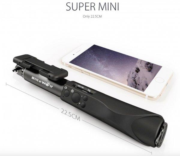 5% Rabatt Gutschein für BlitzWolf™ Bluetooth Aluminium Selfie Stick Monopod @Banggood