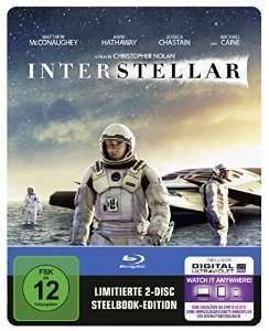 Interstellar Steelbook (2 Disc Bluray) @Amazon (PRIME)
