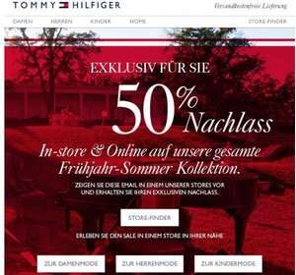 Tommy Hilfiger - Sale mit bis zu 50% Rabatt + 10% Newsletter Gutschein