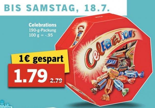 [Lidl ab 13.7.] Celebrations 190g für 1,79€ (Normalpreis 2,79€)