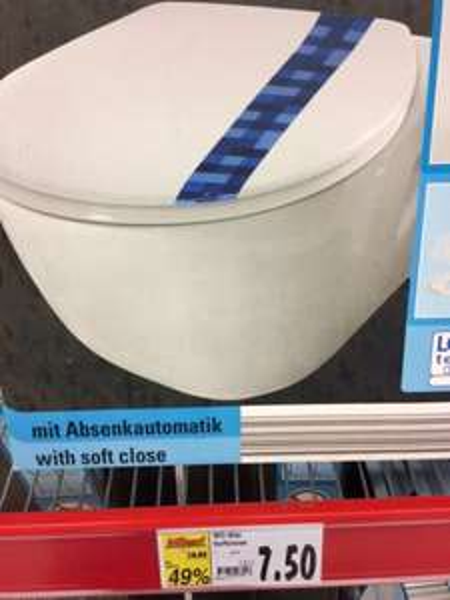 [evtl. nur lokal Kaufland Potsdam] WC-Sitz mit Absenkautomatik statt 14,99 für 7,50 EUR