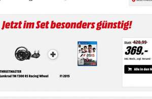 [Media Markt] F1 2015 (PS4) & T300RS Lenkrad ab 364€