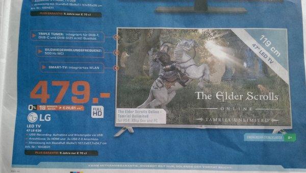 LG 47LB630V Full HD 3D LED TV für 479@ Saturn Kassel und Baunatal