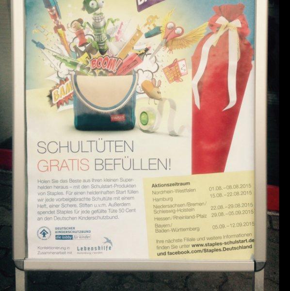 Schultütenbefüllung Staples - D - Bundesweit