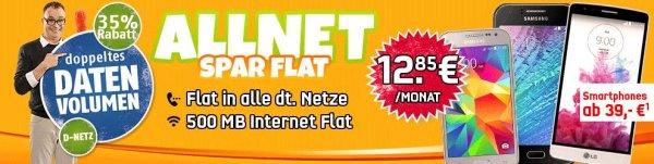 Klarmobil vodafone AllNet-Spar Flat Rabatt Aktion mit Smartphone nur 12,85€ im Monat
