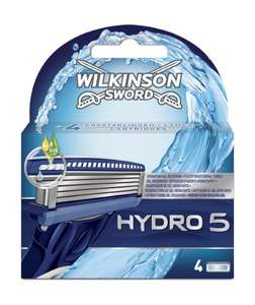 [Amazon] Wilkinson Sword Hydro 5 Klingen, 4 Stück 7,65€ (1,91 € / Stück) - 30 %