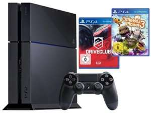 Playstation 4 500GB schwarz + Driveclub + Little Big Planet 3 - 359,99€ @ ebay/Medion