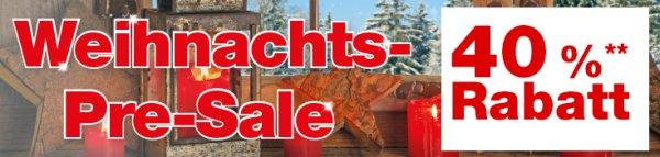 [on- und offline] Hellweg Baumärkte: Hellweg Pre Sale mit 25-40% Rabatt