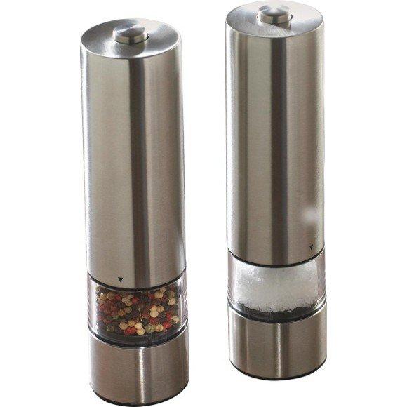[XXXL] 2xJustinus LifeStyle Elektrische Pfeffer-/Salzmühle silber zum Preis von einer...12,94€ inc. Versand