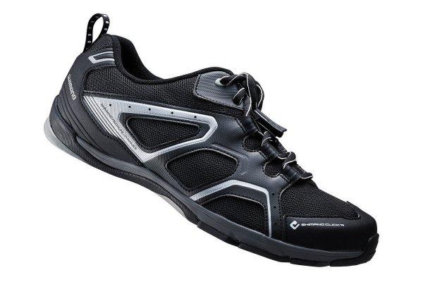 [Brügelmann.de oder Fahrrad.de SALE] Shimano Trekking Schuhe SH-CT40L (Shimano Pedal-System [SPD] bzw. Click'R Schuhe schwarz) ZUSÄTZLICH: 10% DURCH SOVENDUS-GUTSCHEIN BEI FAHRRAD.DE FÜR NEUKUNDEN (dann 40 EUR)